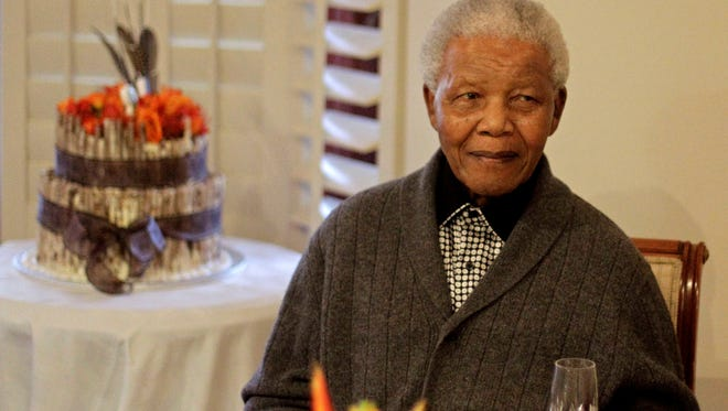 South African President Nelson Mandela celebrates his birthday with family in Qunu, South Africa, on July 18.