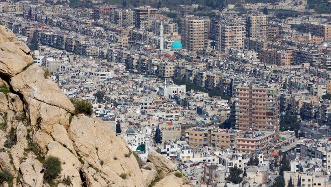 This Thursday, March 22, 2012 file photo shows a general view of Damascus, Syria.