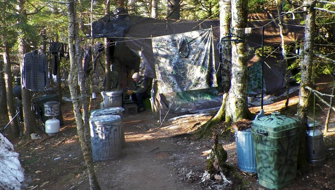 This camp in a remote section of Rome, Maine, is where authorities believe Christopher Knight lived like a hermit for decades. Authorities said he may be responsible for more than 1,000 burglaries.