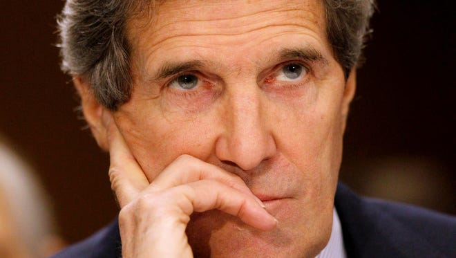 Secretary of State John Kerry testifies on Capitol Hill in Washington last month.