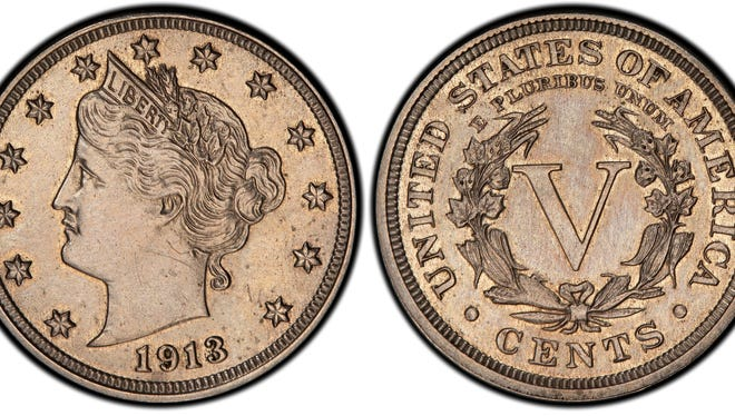 This authentic 1913 Liberty Head nickel that was hidden in a Virginia closet for 41 years after its owners were mistakenly told it was a fake.