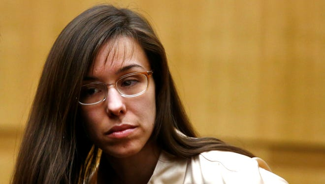 Jodi Arias appears for the sentencing phase of her trial at Maricopa County Superior Court in Phoenix.