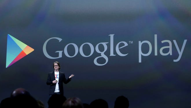 Chris Yerga, engineering director of Android, speaks about Google play at Google I/O 2013 in San Francisco.