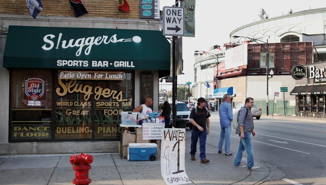 The Sluggers Sports Bar and Grill is seen near Wrigley Field on Sept. 21, 2010.