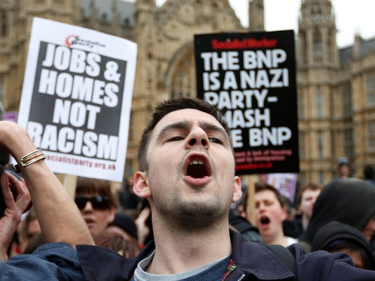 British National Party protest