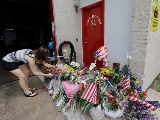 makeshift memorial