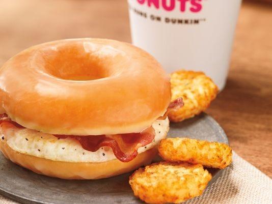 dunkin' donut bacon sandwich