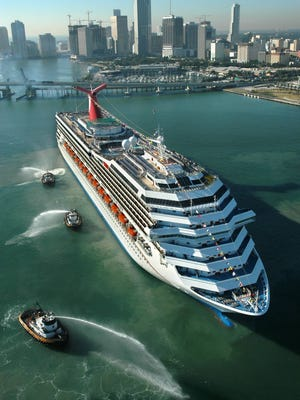 Carnival Cruise Lines' 2,974-passenger Carnival Valor.