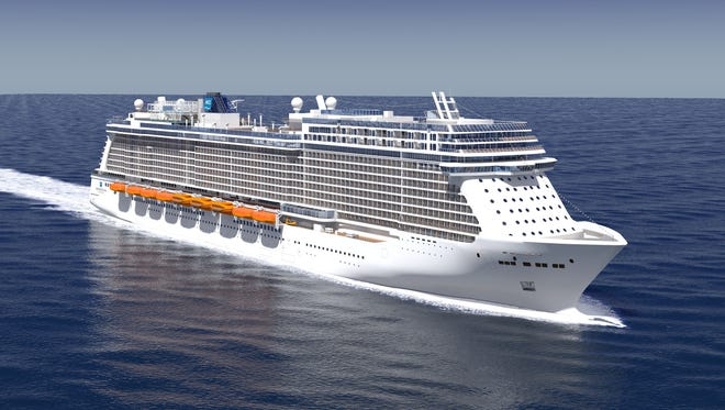 An artist's drawing of a new cruise ship planned by Norwegian Cruise Line to debut in 2015.