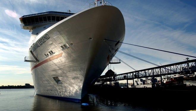 Carnival Cruise Lines' 2,124-passenger Carnival Legend.