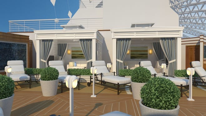 Princess Cruises is debuting private cabanas on a cruise ship for the first time in 2013 aboard the new Royal Princess.