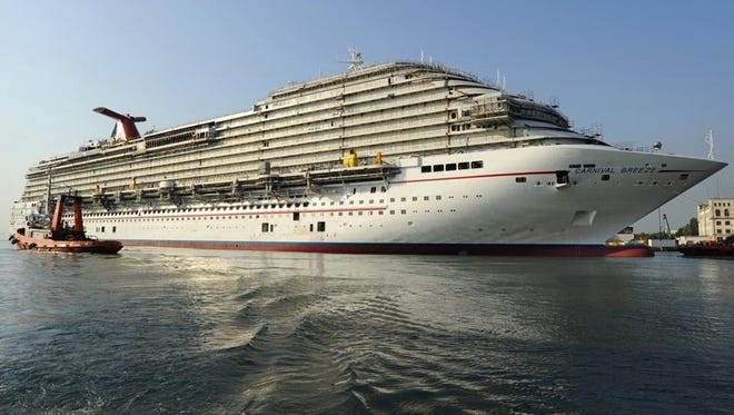 <p>Holiday shopping? Carnival, Celebrity offer gift  cards:The Carnival cards, available in values from $10 to $1,000, can be used for buying a cruise or many on-board purchases, like spa treatments, shore excursions and specialty restaurants. Here, the 3,690-passenger Carnival Breeze.</p>
