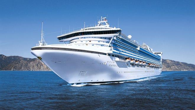 Princess Cruises' 2,600-passenger Star Princess.