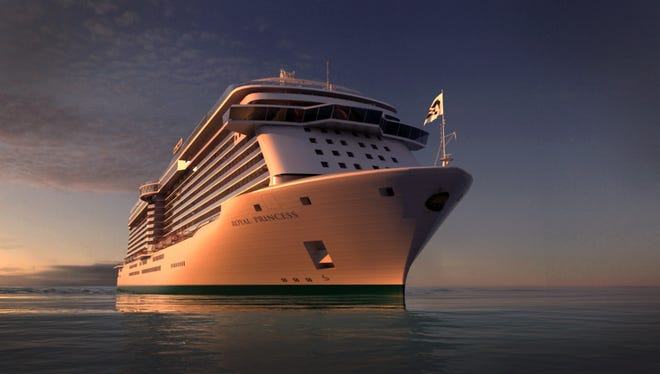 An artist's drawing of Princess Cruises' soon-to-debut, 3,600-passenger Royal Princess.