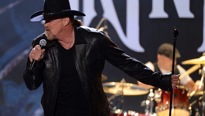 Trace Adkins performs onstage during the 2012 American Country Awards.