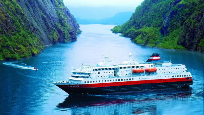 The Hurtigruten cruise line's 822-passenger Trollfjord.