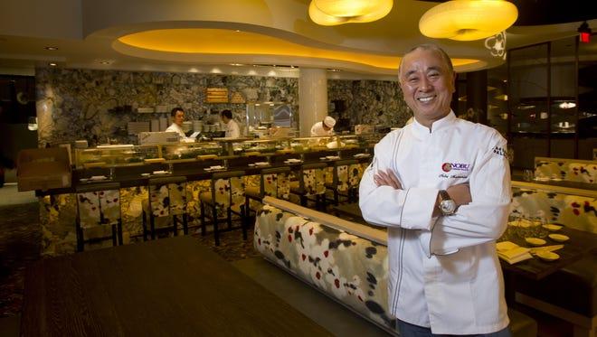 Chef Nobu Matsuhisa at the Nobu restaurant in Caesars Palace hotel and casino.