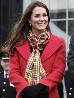 Catherine, Duchess of Cambridge, visits Dumfries House in Ayrshire, Scotland, on April 5, 2013.