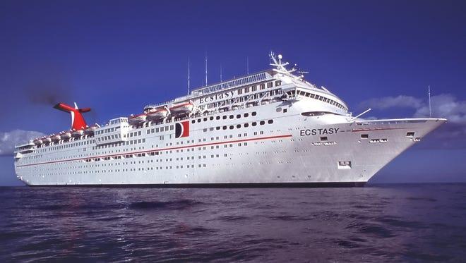 Carnival Cruise Lines' 2,056-passenger Carnival Ecstasy.