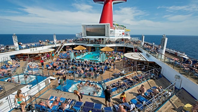 The Lido Deck on Carnival Cruise Line's revamped Carnival Sunshine.