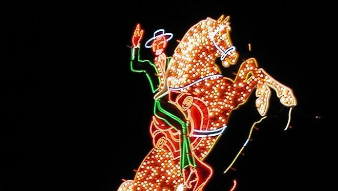 Latest Las Vegas attraction -- A Neon Museum:A vintage neon sign from the old Hacienda hotel in Vegas is part of the collection of the new Neon Museum, which opens Saturday in Sin City.