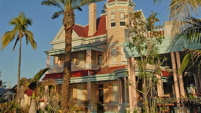 The Southernmost House is a historic inn and museum in Key West, Fla. Key West is one of a dozen winners in the Prettiest Painted Places in America contest, sponsored by the Paint Quality Institute.