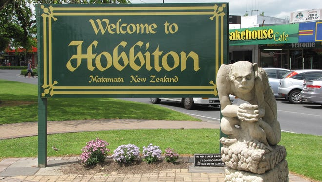 The town of Matamata, 100 miles from Auckland, is home to the Hobbiton film set, now open for tours.