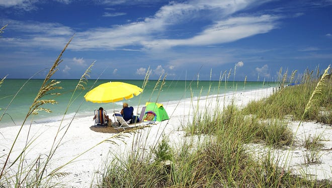 Florida's Sanibel Island  is known for quiet beaches, seashells and wildlife.