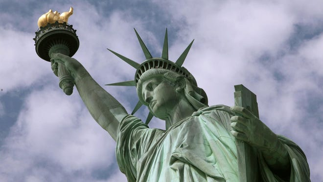 The Statue of Liberty on Ellis Island, damaged in last October's Superstorm Sandy, will reopen by July 4, National Park Service officials say.