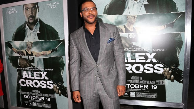 "Actor Tyler Perry attends the Premiere Of Summit Entertainment's ""Alex Cross"""
