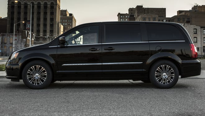With black touches inside and out, Chrysler thinks Town and Country can be b-a-a-a-d in a good way.