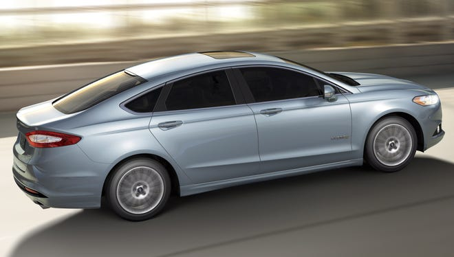 Ford Fusion, seen here as the hybrid, is the brand's poster child for computer sophistication.