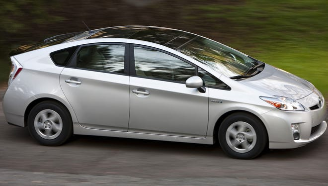 Toyota's Prius, little changed from the 2010 model seen here, is Consumer Reports' pick as best value