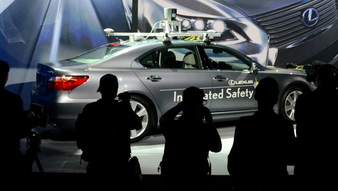 Toyota presents an experimental automated car at the 2013 International CES in Las Vegas