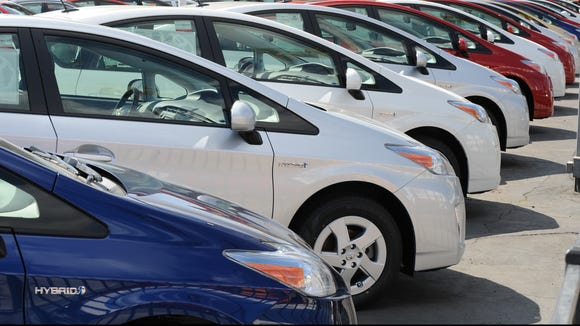 Toyota Prius Hybrid Model Cars Wait For Customers At A Dealer In Hollywood This 2010 File Photo Mark Ralston Afp Getty Images