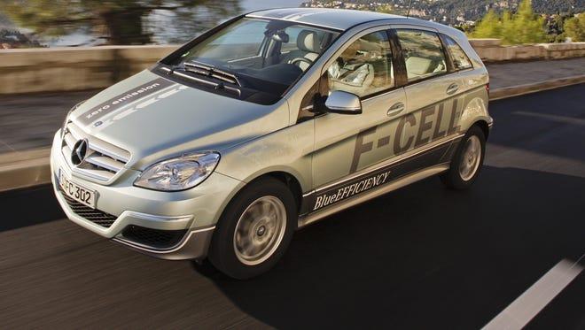 The 2011 Mercedes Benz F-Cell runs on hydrogen