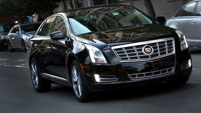 The 2013 Cadillac XTS on the streets of New York.