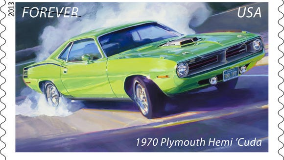 The Famous Cuda Is One Of Cars Being Honored With A Stamp Photo U S Postal Service