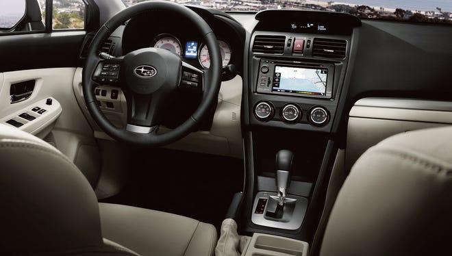 The interior of the 2013 Subaru Impreza.