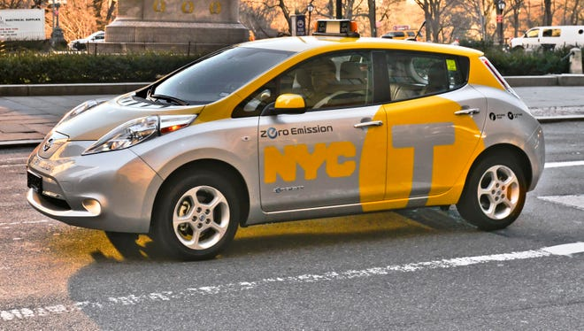 Nissan and New York City Mayor Michael Bloomberg launched a new electric vehicle taxi