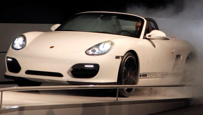 The Porsche Boxster Spyder debuts at the Los Angeles Auto Show