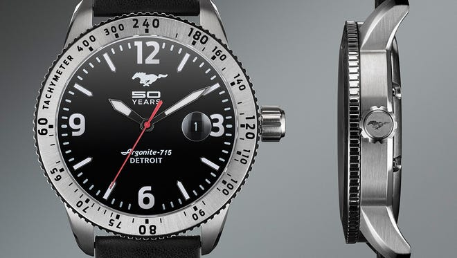 Ford and Shinola are partnering on a 50th anniversary Mustang watch.