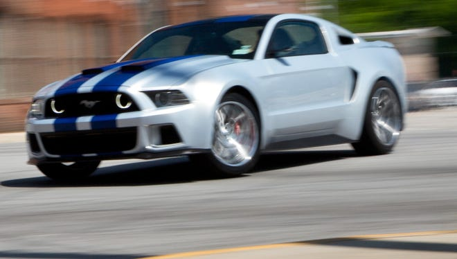 Ford is showing off its star of the Need for Speed movie, a Mustang