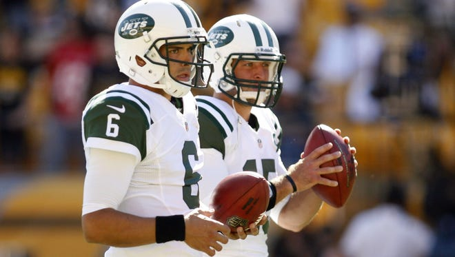 Mark Sanchez (6) or Tim Tebow? That seems to be the question for the Jets?