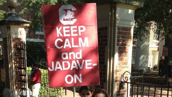 """You spelled """"Jadeveon"""" wrong, but still. Nice. Side note: Why can no one at South Carolina spell?"""