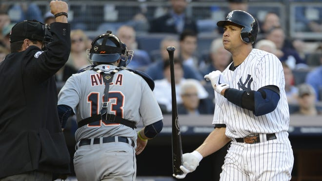 Alex Rodriguez is batting .130 with 12 strikeouts in the postseason.