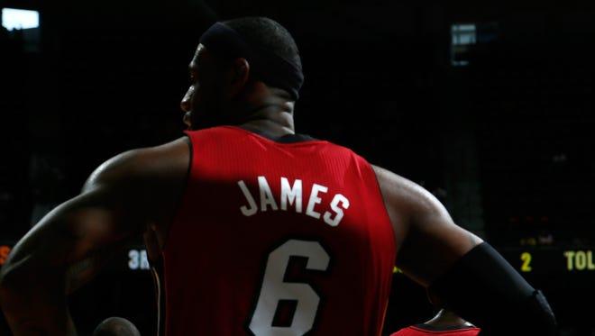 LeBron James at Philips Arena on October 7, 2012 in Atlanta, Georgia.