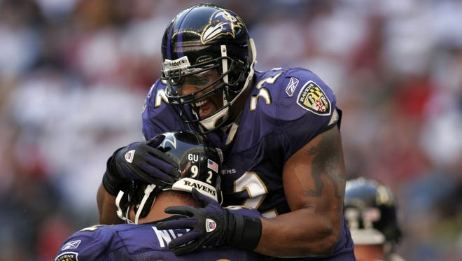 Will Ray Lewis (52) and Haloti Ngata be teaming together for the Ravens down the line?