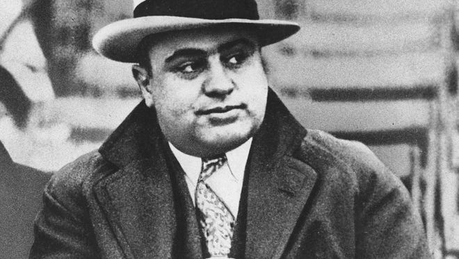 Mobster Al Capone is seen at a 1931 football game in Chicago.