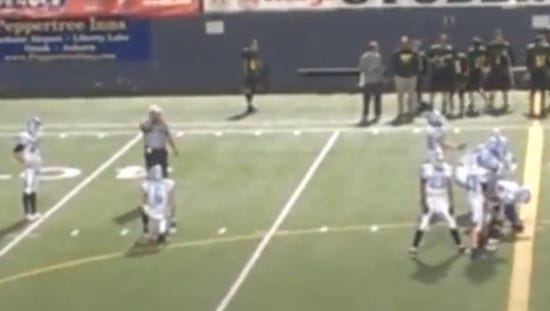 Austin Rehkow prepares to hit a 67-yard field goal attempt.